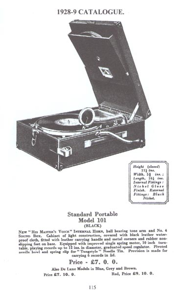 HMV Model 101 Advert