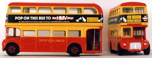 gramophones - London hmv toy bus